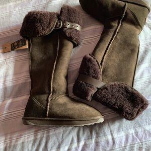Emu brown illoura sheepskin boot